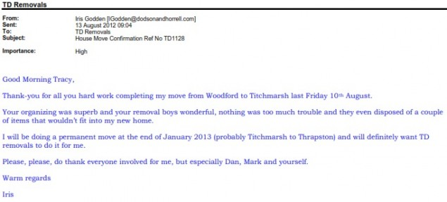 Removal Company Woodford to Titchmarsh